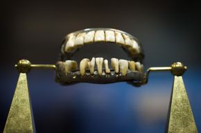 George Washington's only complete set of dentures, made out of lead, human teeth, cow teeth and elephant ivory, is displayed at The Minnesota History Center. Doesn't it make your mouth hurt to look at the dentures?