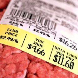 Be sure to look at the unit price on your groceries so you know the true cost of the food.