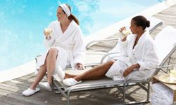 A day at the spa will calm your nerves before you both have to walk down the aisle.