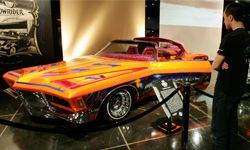 A lowrider vehicle on exhibit at the Peterson Automobile Museum in Los Angeles, Calif.