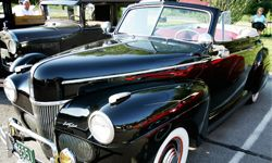 A 1941 Super Deluxe Ford convertible