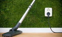 Electric sweepers use less energy and are easier to maneuver around furniture.