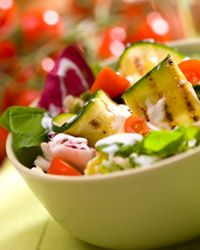 Try tossing grilled zucchini with a garden salad.