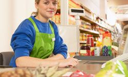 Your friendly cashier hopes you don't notice any of her mistakes.