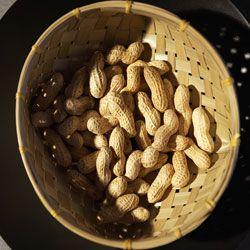 Shelled peanuts are fun and tasty treats.