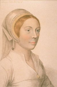 Catherine Howard was executed for being unchaste. Her portrait is from a painting by Hans Holbein the Younger, engraved by Francesco Bartolozzi.