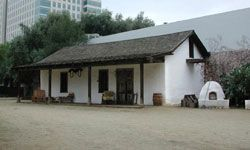 The Peralta Adobe, built in 1797, provides an early example of green construction with good insulation and passive solar heating.