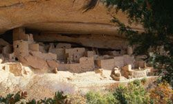 The cliff dwellings at Mesa Verde National Park in Colorado were some of the earliest green homes.