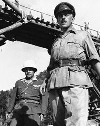 """Alec Guinness, right, is shown in this scene from the film """"Bridge on the River Kwai."""""""