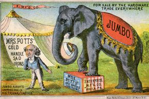 P.T. Barnum, depicted in this illustration, operated a 19th-century sideshow full of curiosities like the Fiji Mermaid.