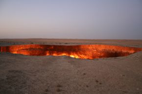 The Darvaza gas crater has been burning for more than 30 years.