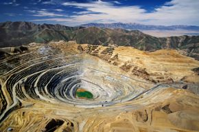 The Bingham Copper Mine has produced about 18.7 million tons of copper since excavation began in 1906.
