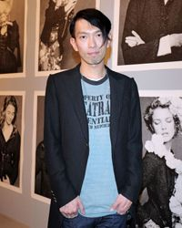Architect Junya Ishigami poses at an exhibition in Tokyo on March 21, 2012.