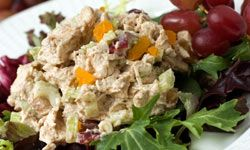 Let your chicken salad sit in your refrigerator for several hours (at least) before you serve it to let the flavors fully develop.