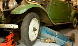 You're putting in enough elbow grease on the restoration -- finding the vintage parts you need shouldn't require too much work. See more pictures of classic cars.