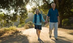 Walking is one of the best (and simplest) exercises for seniors. Head to the nearest park and enjoy the fresh air! See more healthy aging pictures.