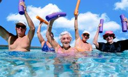 Water aerobics is an excellent workout for seniors because it improves strength and is also fun.