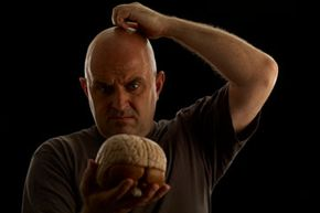 This man can't figure out why we'd only use 10 percent of our brains. See more brain pictures.