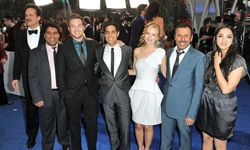"""The cast from NBC's """"Outsourced"""" at the 2011 People's Choice Awards in Los Angeles."""