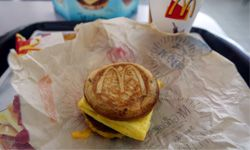You can see how this McGriddles breakfast sandwich might be easier to eat than, say, a stack of pancakes while you're driving to work.