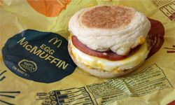 That McMuffin now comes with nutritional info in California, per a state law that goes into effect July 2009, requiring chain restaurants to reveal calorie info on standard menu items.­­