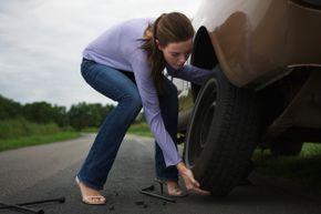 A flat car tire is never fun.