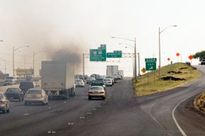 """Diesel fuel spews out a lot of crud, known more scientifically as """"particulates."""""""