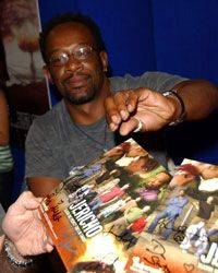 """Cast members from the show """"Jericho"""" sign autographs at the 2007 Comic-Con International in San Diego, Calif."""