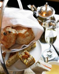 A proper English tea service makes brunch a formal affair.