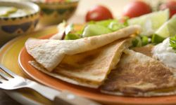 A hot veggie quesadilla will win guests over.