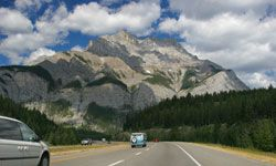 Head north to Canada and explore Banff National Park -- you'll be amazed by some of the mountains you encounter.