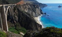 Bixby Bridge, along Highway 1 in Big Sur, offers up some stunning views of the Pacific Ocean.