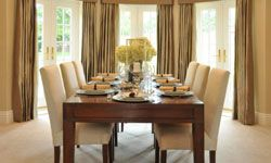 Stage your dining room so that potential buyers can picture themselves dining there with family and friends.
