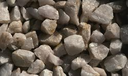 Quartzite is smaller and can be used as a decorative stone.