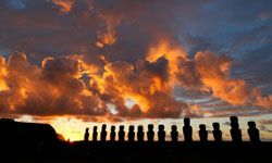 """The huge """"moai"""" statues on Easter Island have long puzzled archaeologists. See more pictures of Easter Island."""