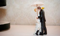 The perfect topper for a rainy wedding day -- or for a couple getting married in Seattle.