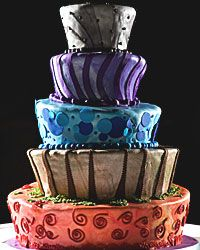 This cake has shapes and hues that would make Picasso proud!