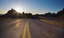 The open road is romanticized in books and movies.