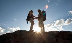 Popping the question on a mountaintop is incredibly romantic.