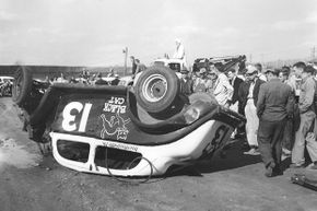 Black cats and the number 13 have always been considered unlucky, and definitely were so for this Modified stock car driver in the early-1950s.
