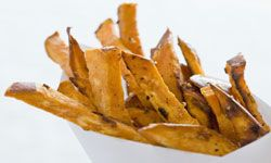 Sweet potato fries are just one healthy swap Agatston propsed at Florida schools.