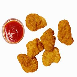 Chicken nuggets made with real chicken are served up by chef Ann Cooper.