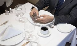 Usually, this formal setting is reserved for business lunches.