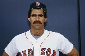 Buckner posing on July 23, 1985, before that fateful day in the 1986 Series.