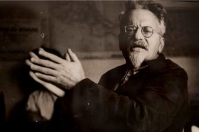 A portrait of Trotsky hanging in the Mexico City museum bearing his name.