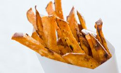 Sweet potato fries permitted
