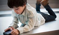 Kids love to text. Confiscate phones during weddings, though.