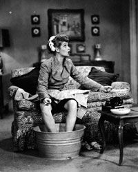"""Lucille Ball on the set of """"I Love Lucy"""""""