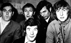 """The British comedy troupe """"Monty Python,"""" shown here in a 1969 promotional photo, influenced a new form of comedy."""