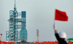 Meet China's first space laboratory module Tiangong-1. Here it prepares for liftoff on Sept. 29, 2011. China aims to have a manned Chinese space station by 2020. See more pictures of space exploration.